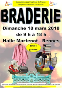 BRADERIE OREGANISEE PAR L'ASSOCIATION DES PARALYSES DE FRANCE
