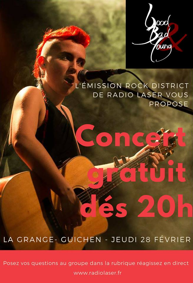 Good Bad & Young en émission live au Bar La Grange à Guichen le jeudi 28 février 2019 à 20h
