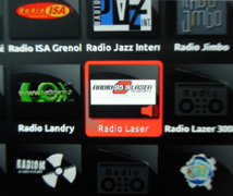 Radio Laser disponible sur la Freebox
