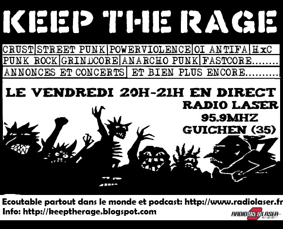 keep the rage du vendredi 19 avril: Playlist et podcast