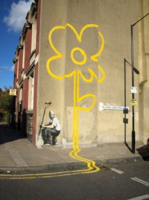 Yello Flower, par Banksy