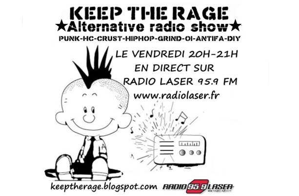 Keep The Rage #144 - vendredi 09 octobre - Playlist et Podcast