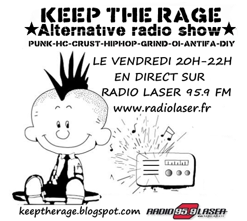 Keep The Rage #208 - Vendredi 17 mars - Playlist et Podcast