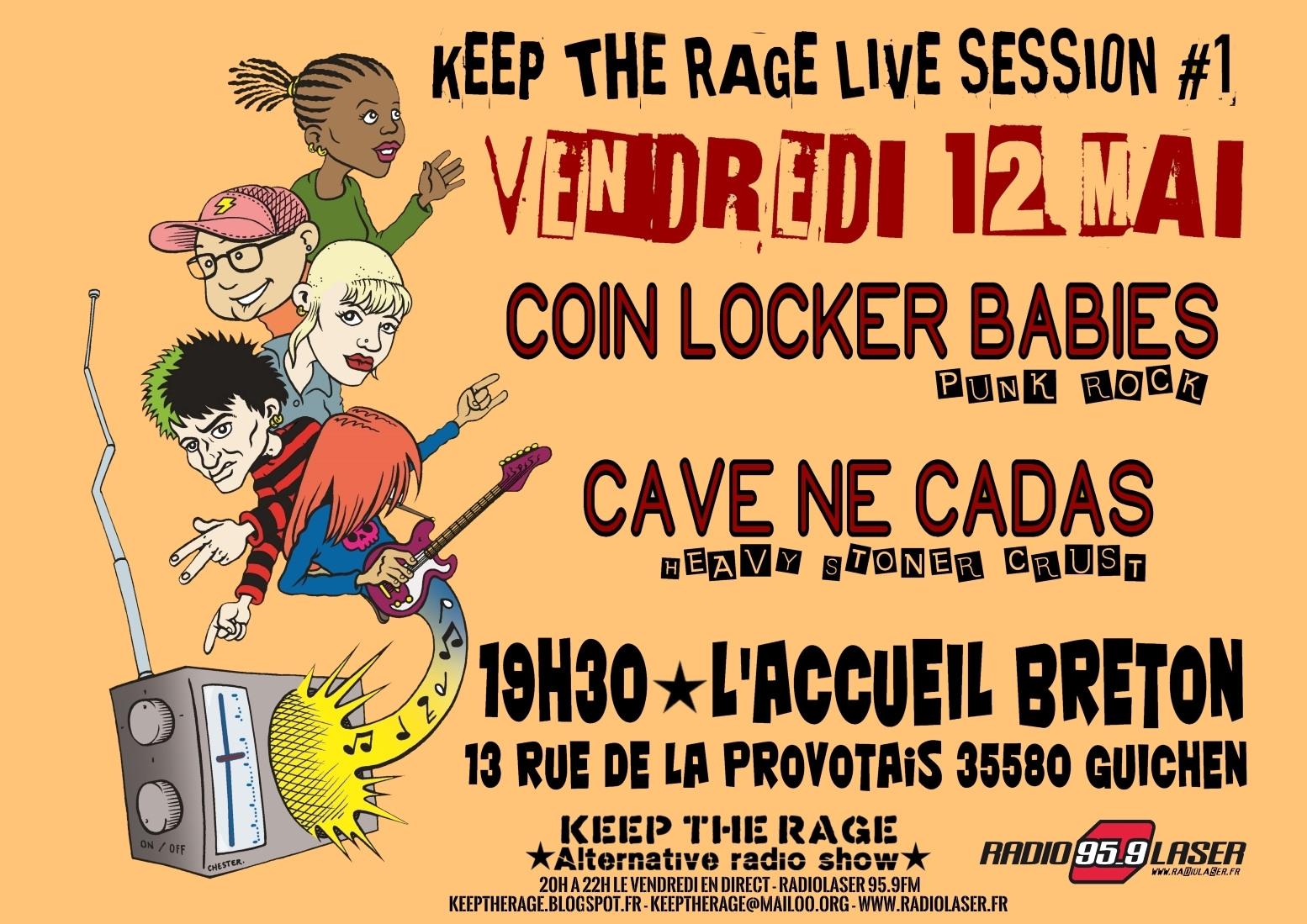 Vendredi 12 mai - KEEP THE RAGE LIVE SESSION #1 - L'accueil Breton à Guichen