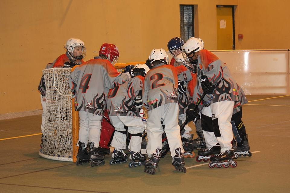 Match roller in line hockey poussins - St Armel