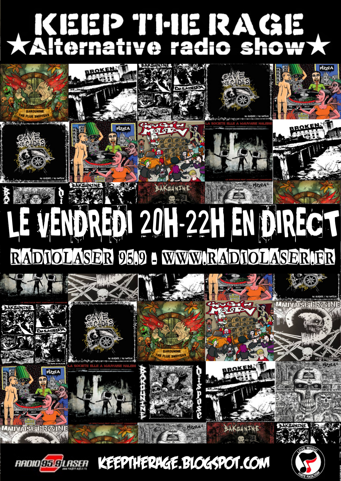 Keep The Rage #259 - vendredi 25 mai - Playlist et Podcast