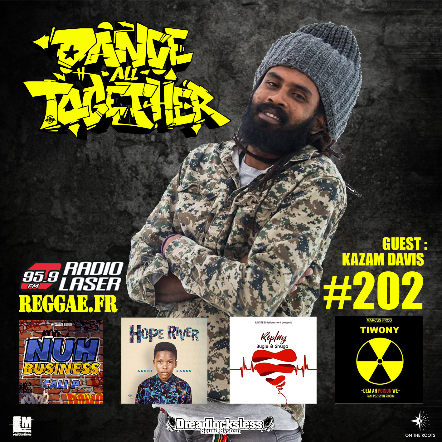 Dance All Together #202 Guest : KAZAM DAVIS (JAM) 24 Septembre 2018