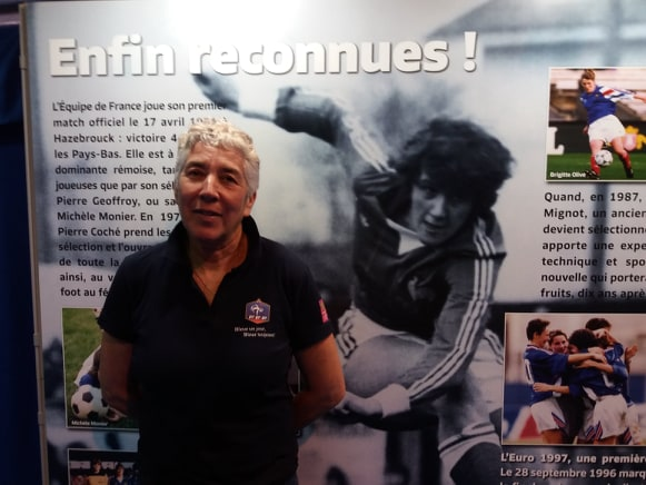 Dominique Provost, ancienne internationale de l'équipe de France de football féminine.