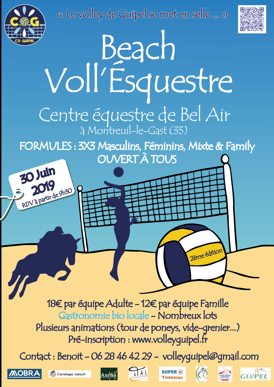 Tournoi Beach Voll'Equestre - CO Guipel
