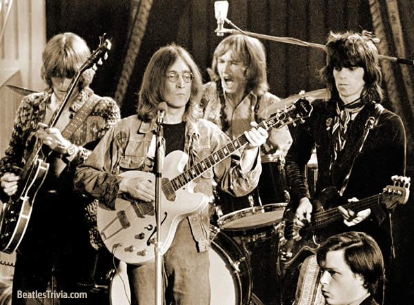 The Dirty Mac : Lennon, Richards, Clapton et Mitchell... Ouarrrrrrh!!!!